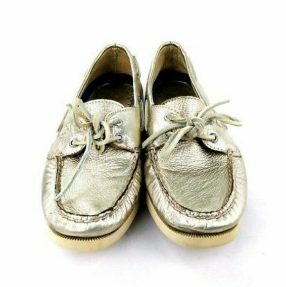 768d36941c97 Sperry Topsider Metallic Gold Leather Moccasins.  M_5bc503ec534ef93791fa745d. Other Shoes ...